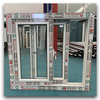 Double Insulated Glass Utility Vinyl Single Sliding Window with Grids