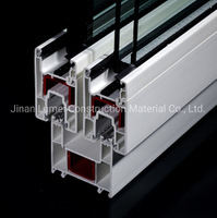 Two Tracks Sliding PVC Door Profile